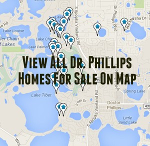 Map of Dr. Phillips Homes For Sale