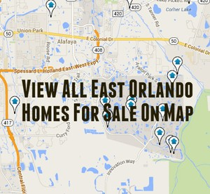 Map of East Orlando Homes For Sale