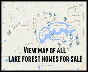 Map of Lake Forest Homes For Sale