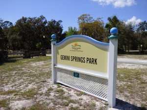 Gemini Springs Entrance