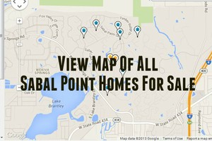 Map of Sabal Point Homes For Sale