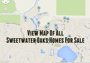 Map of Sweetwater Oaks Homes For Sale