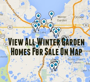 Map of Winter Garden Homes For Sale