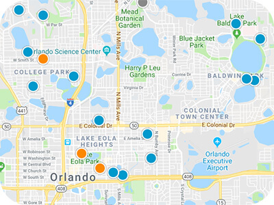 Central Florida Real Estate Map Search