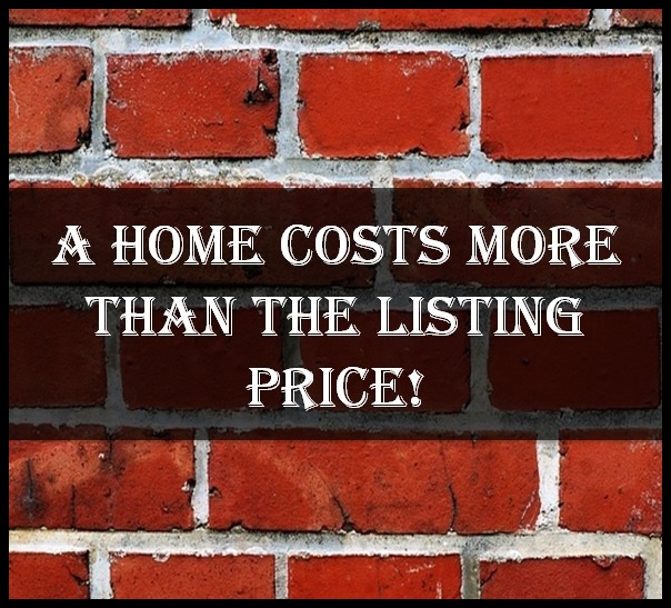 A home costs more than the listing price