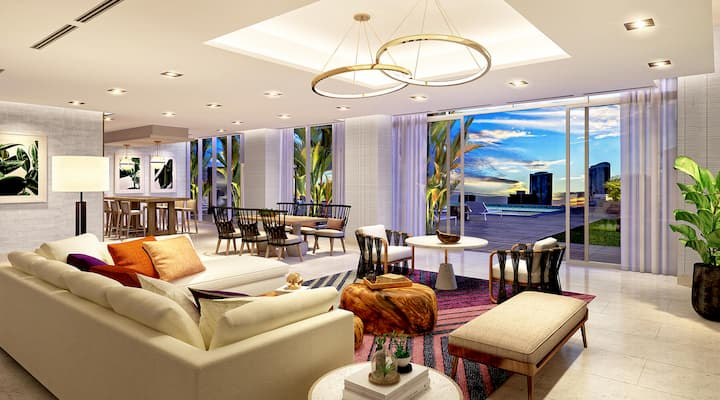 Azure Ala Moana club lounge for residents