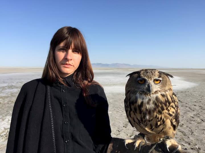 Jeanine Pesce and owl