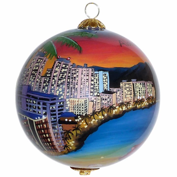 Waikiki Xmas Ornament