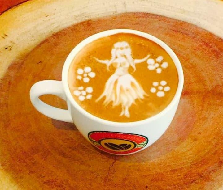 Waikiki Breakfast Latte Coffee Art