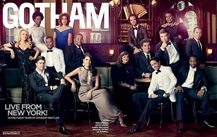 Gotham magazine cover: SNL cast