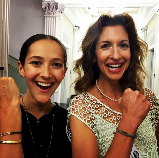 Jessica Hendricks and Alysia Reiner, actress, activist, and supporter of The Brave Collection