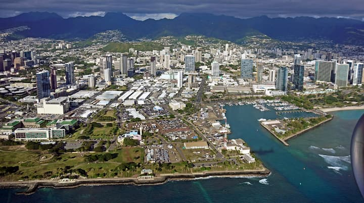 Neighborhood Spotlight: Kakaako - aerial view