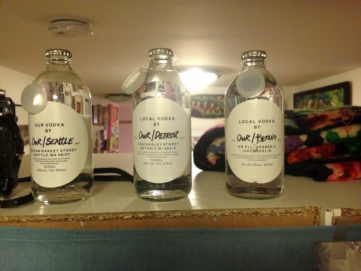 Dave's art on bottles