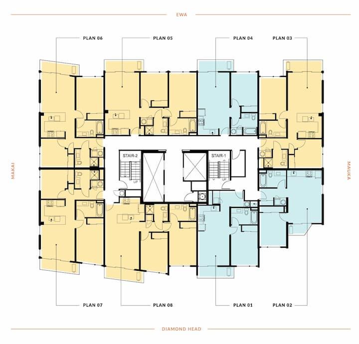 Floor plate plan of Ililani