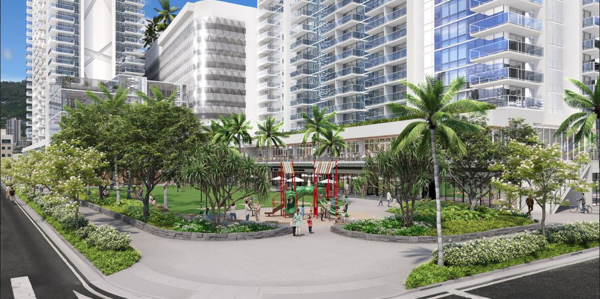 The Park on Keeaumoku Grove Street Level