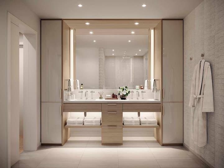 Victoria Place vanity bathroom light scheme
