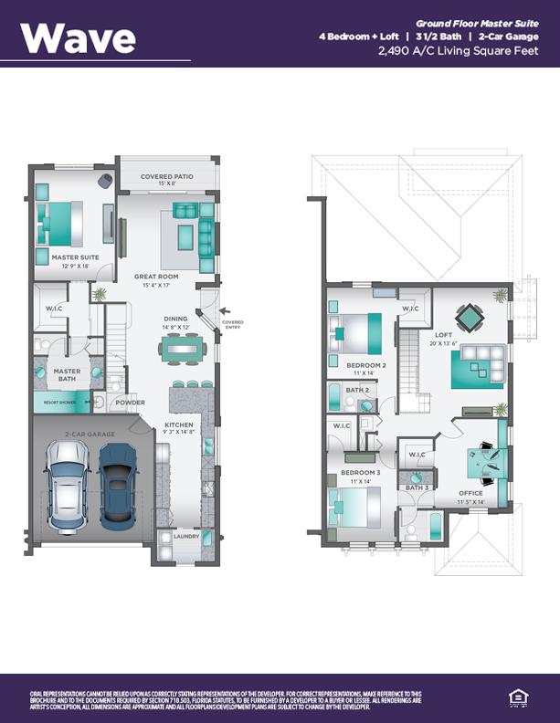 Pointe Midtown Wave floor plan