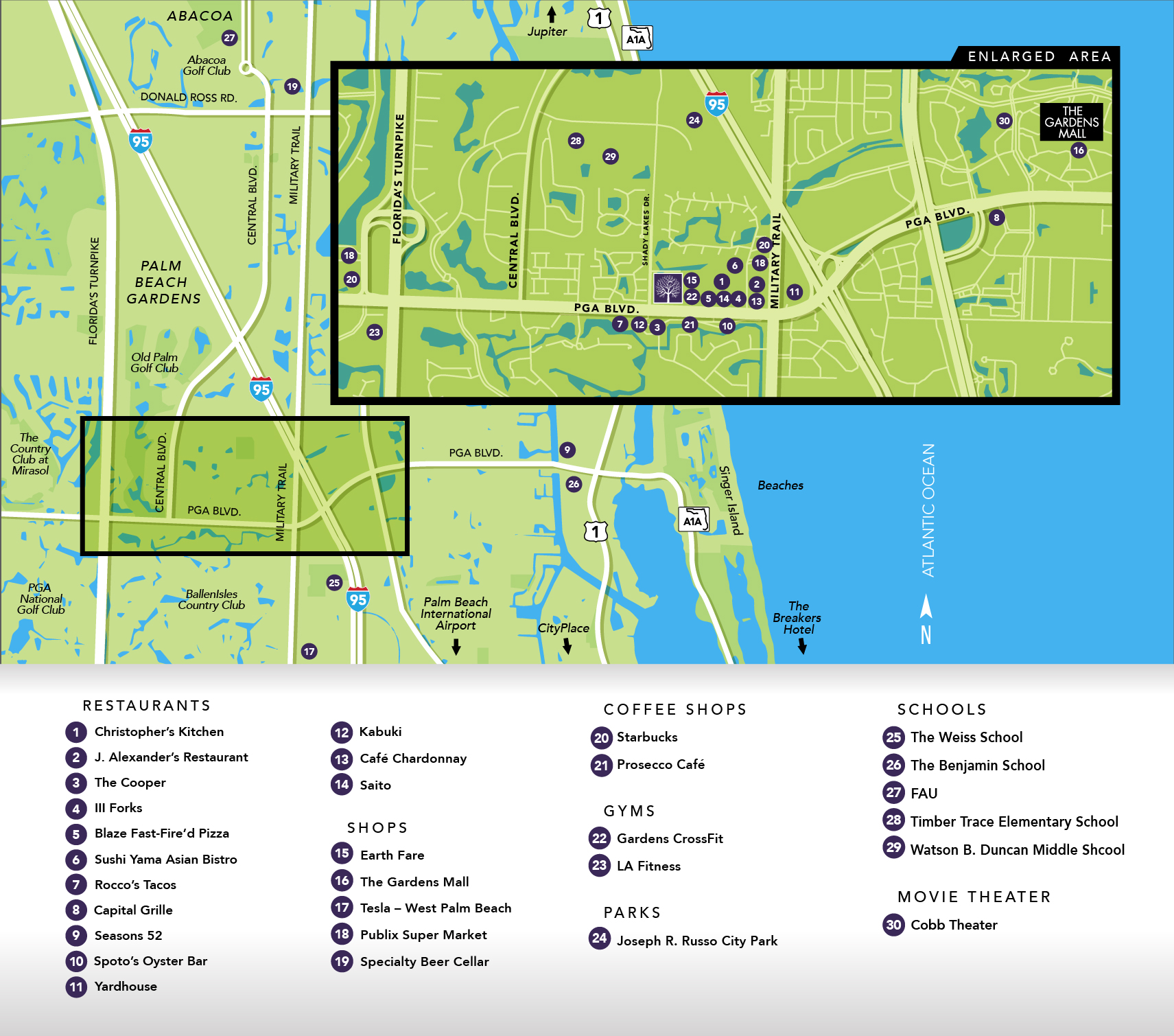 Pointe Midtown area map