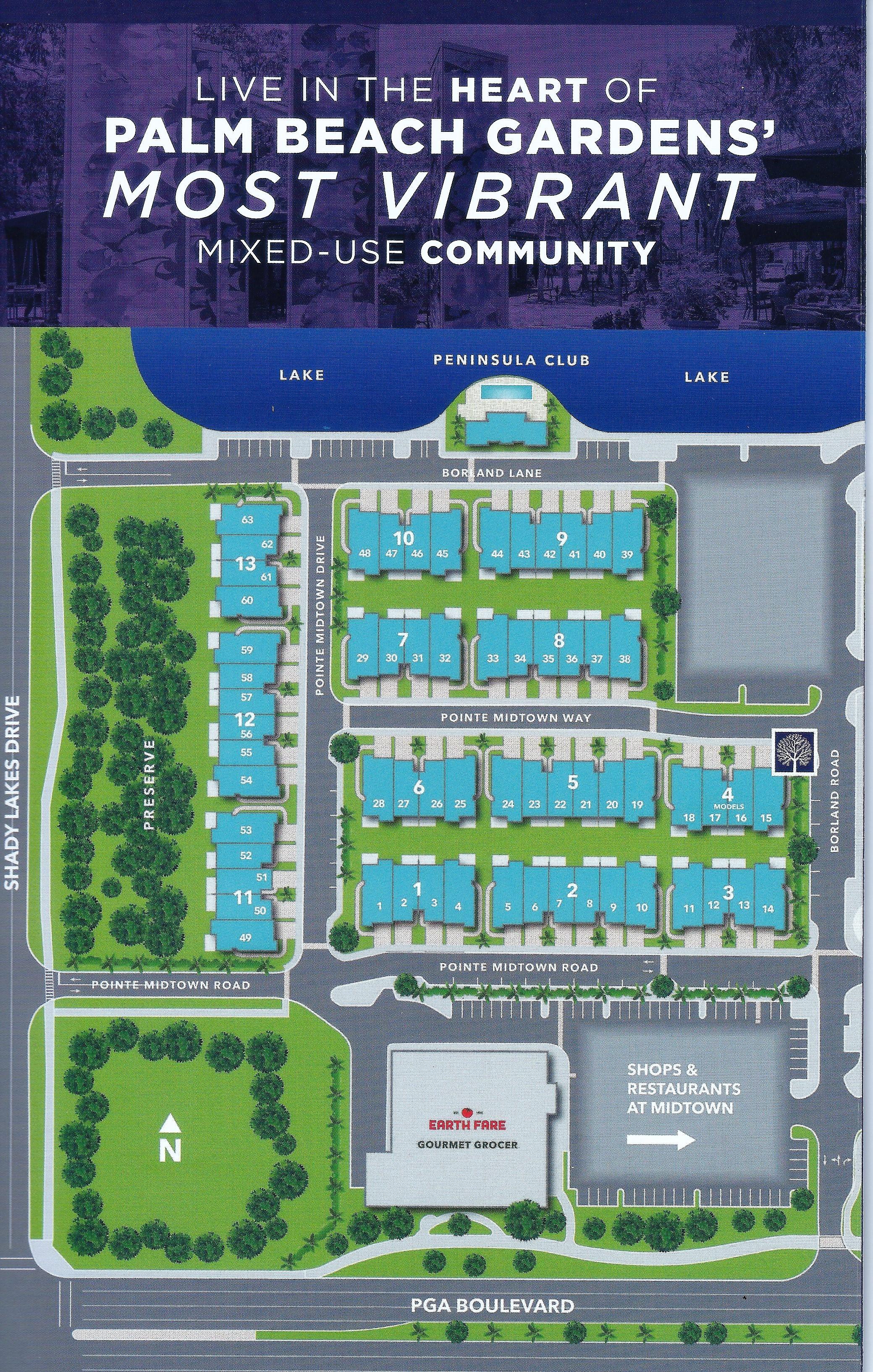 Palm Beach Gardens Pointe Midtown Map