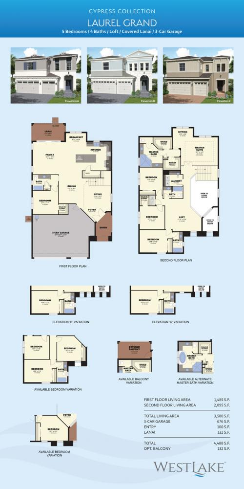 westlake Laurel Grand floor plan