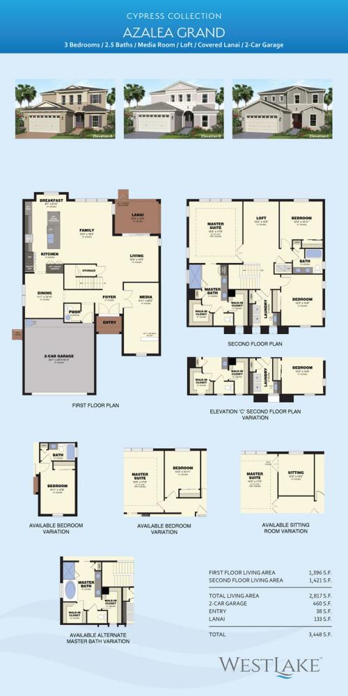 Westlake Azalea Grande floor plan
