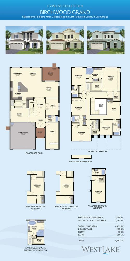 Westlake Birxchwood Grand floor plan