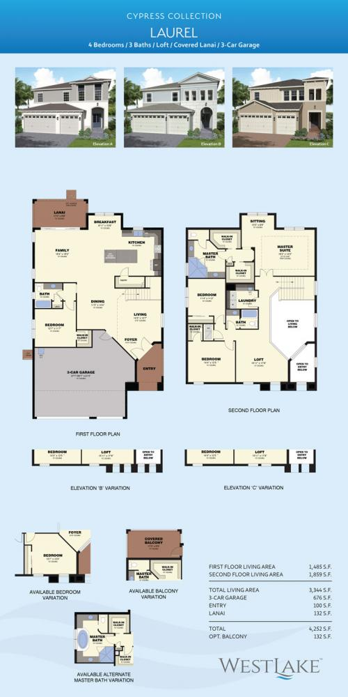 Westlake Laurel floor plan