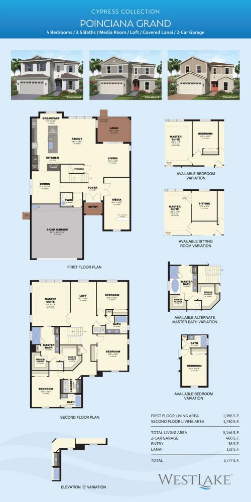 Westlake poinciana Grande floor plan