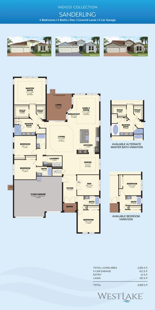 Westlake Palm Beach Sanderling floor plan