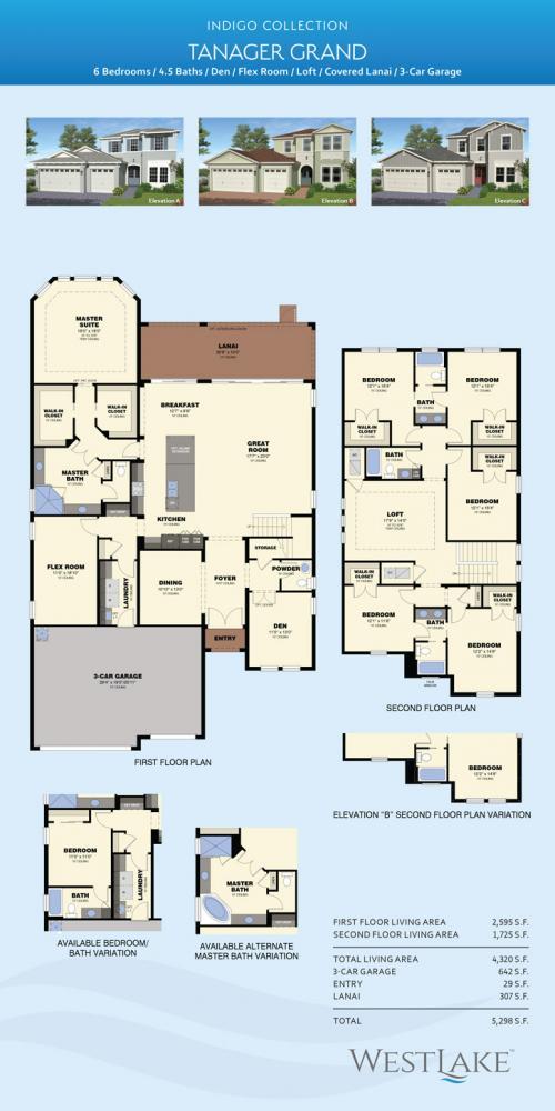Westlake Palm Beach Tanager Grand floor plan
