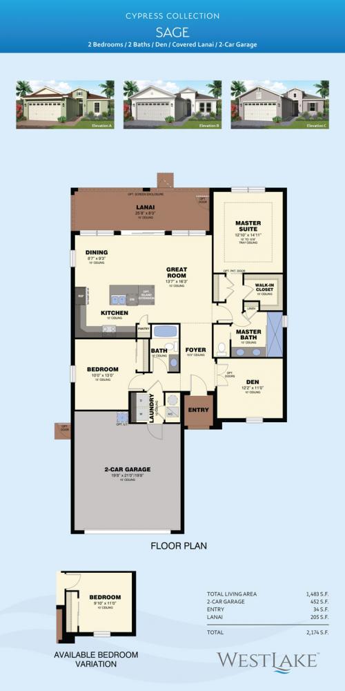 Westlake Sage floor plan