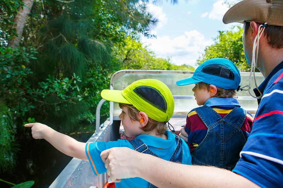 Palm Beach County home owners tour the Everglades.