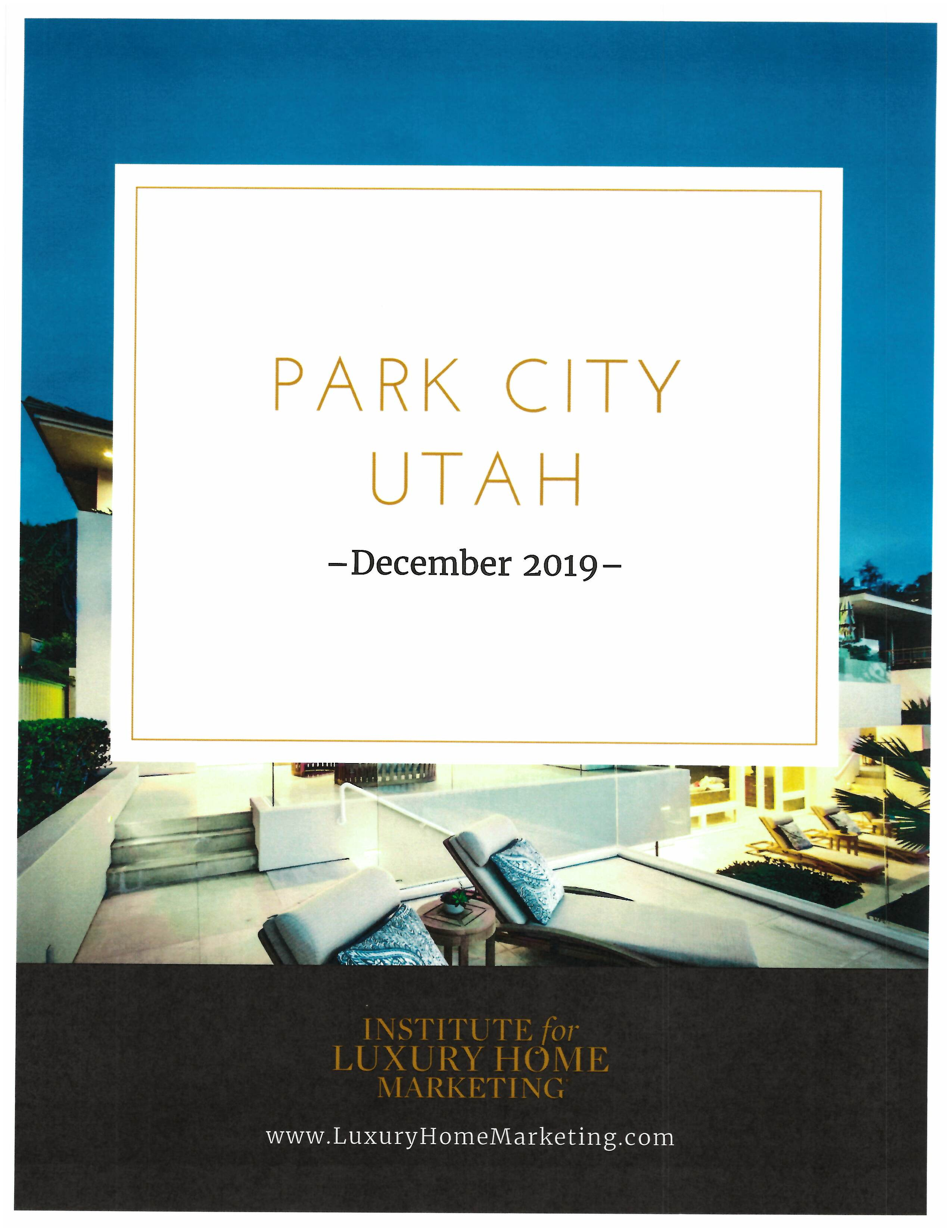 How is the Park City Real Estate Market pg1