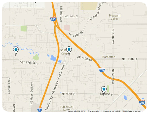 Salmon Creek Home Map Search