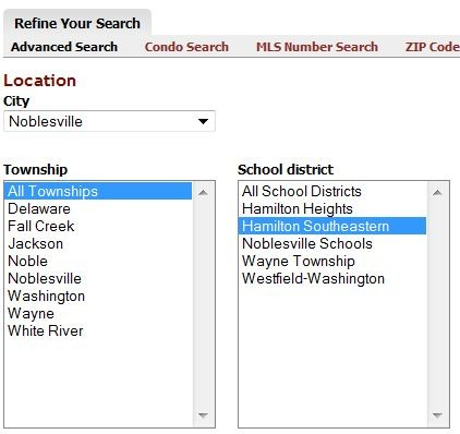 Property search by school district
