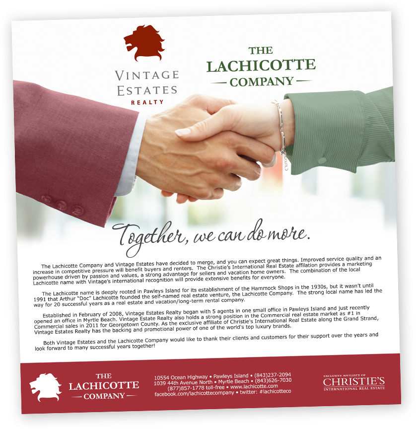 vintage estates realty and the lachicotte company merger
