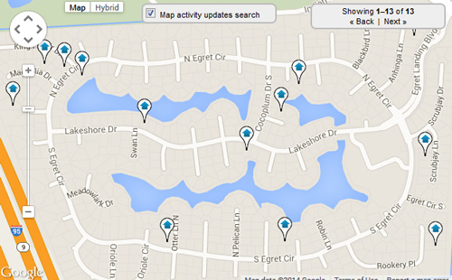 Egret Landing Map Search for Homes