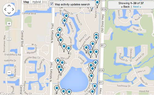 Evergreene Map Search for Homes