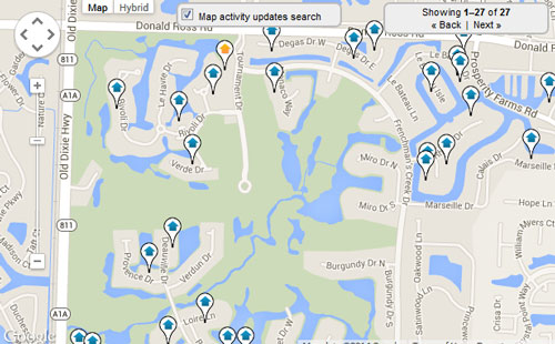 Frenchmans Creek Map Search for Homes