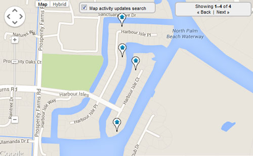 Harbour Isles Map Search for Homes