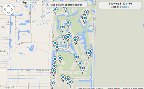 Ibis  Country Club Map Search for Homes