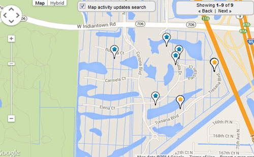 Jupiter Country Club Map Search for Homes