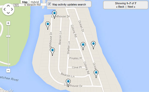 Jupiter Inlet Colony Map Search for Homes