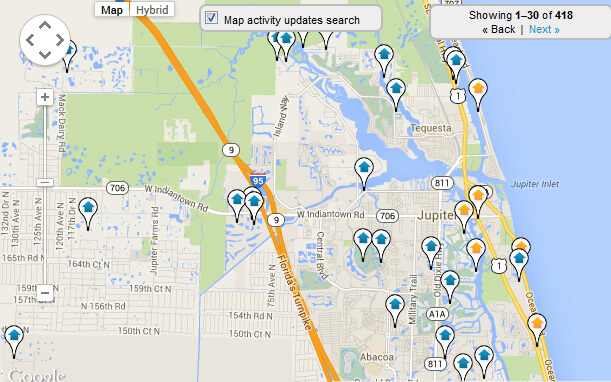 Jupiter Map Search for Homes