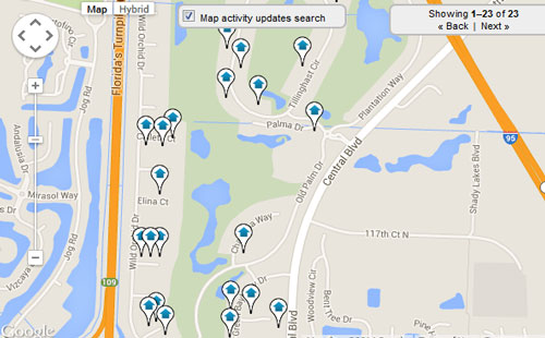 Old Palm Golf Club Map Search for Homes