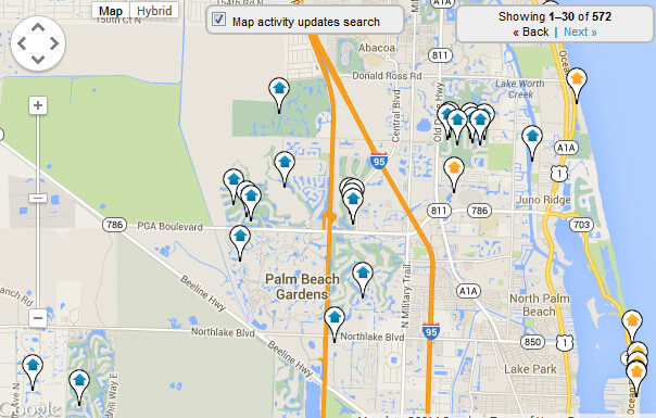 Palm Beach Gardens Map Search For Homes