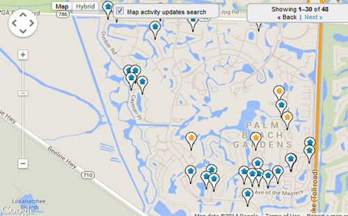 PGA National Map Search for Homes