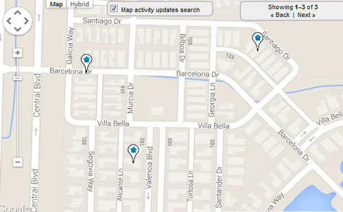 Valencia Florida Map Search for Homes