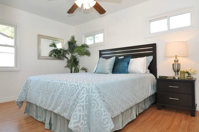 staged bedroom Pasadena home