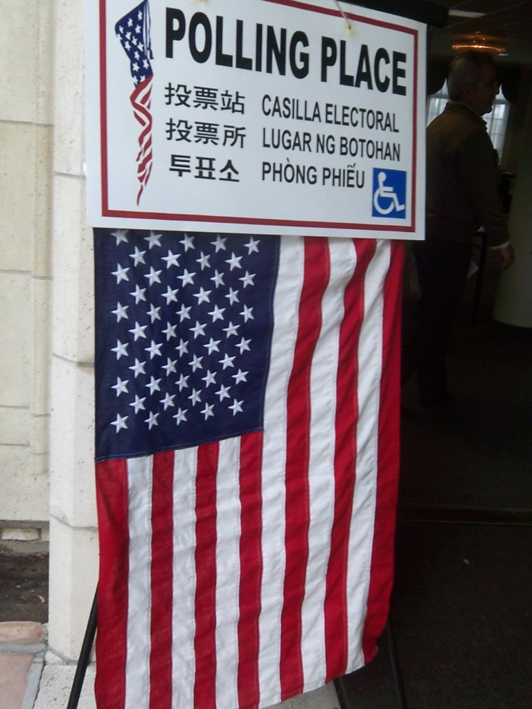 San Marino California Voting Place and Flag